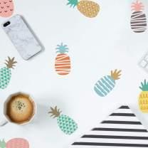 Pineapple Wall Decal DIY Cute Wall Sticker, Vinyl Peel and Stick Wallpaper Removable Waterproof, Decor for Nursery Baby Kids Girl Teen Bedroom Living Room
