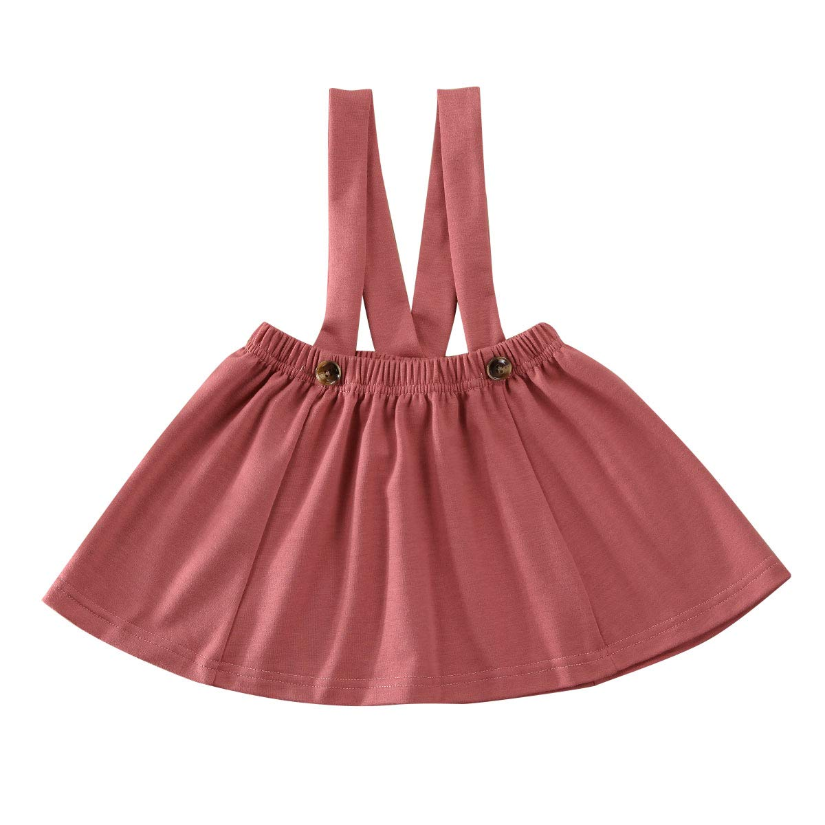 Karuedoo Baby Girls Suspender Skirt Infant Toddler Ruffled Casual Strap Sundress Summer Outfit Clothes