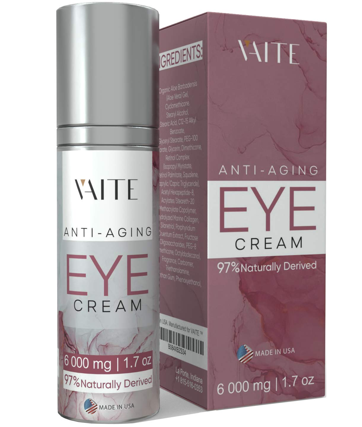 Eye Cream Treatment for Anti-Aging, Bags, Puffiness, Circles, Wrinkles, Dark Circles Under Eyes - Best Organic Natural Eye Gel For Men and Women with Hydrating Serum and Vitamin C
