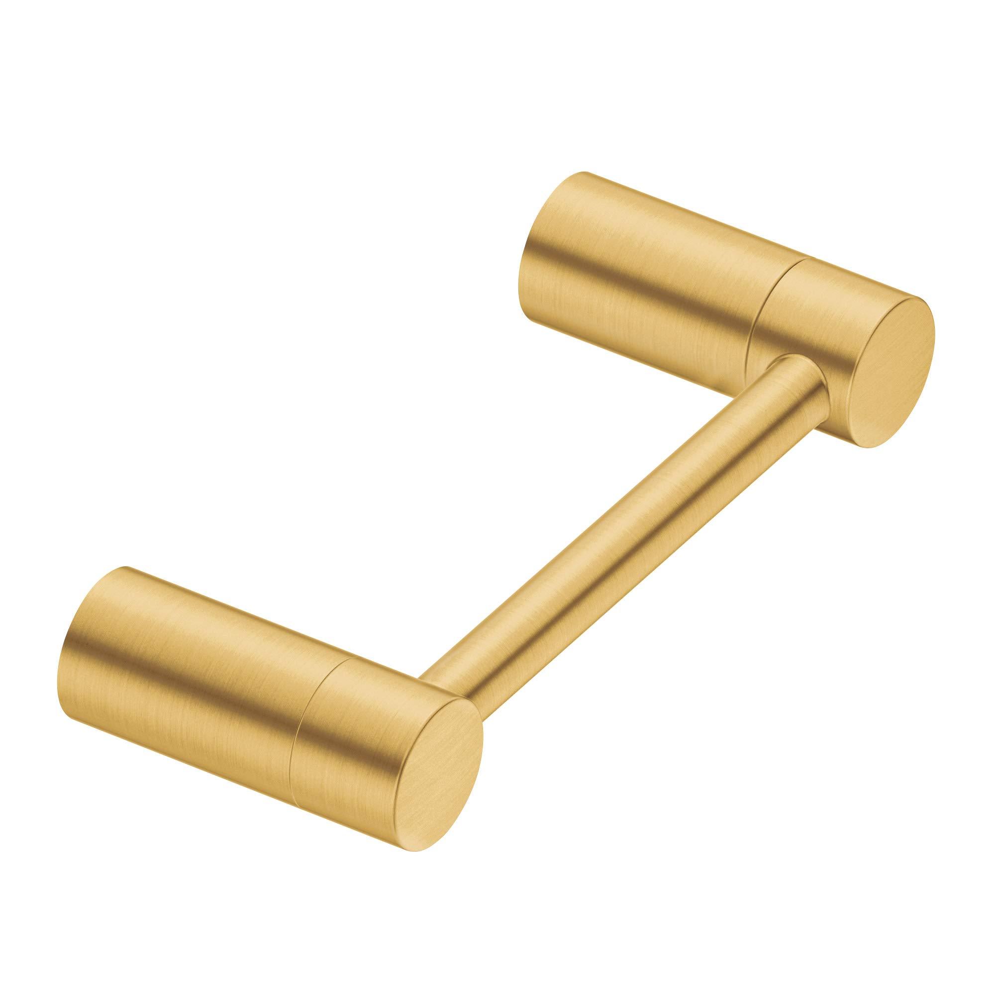 Moen YB0408BG Align Pivoting Double Post Modern Toilet Paper Holder, Brushed Gold