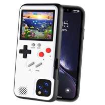 POKPOW Handheld Game Console Phone Case for iPhone 11 Case with Built in 36 Retro Games Compatible with iPhone 11 Anti-Scratch Shock Absorption Cover (P11 White)