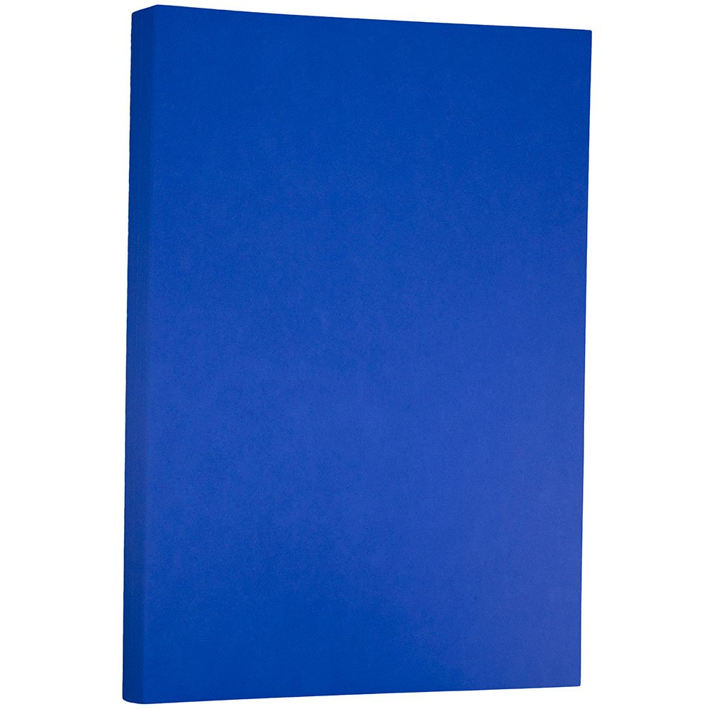 JAM PAPER Ledger 65lb Cardstock - 11 x 17 Tabloid Coverstock - Presidential Blue Recycled - 50 Sheets/Pack
