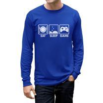 Eat Sleep Game - Gift for Gamer Gaming Men's Long Sleeve T-Shirt