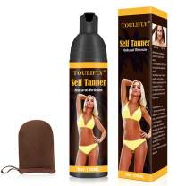 Self Tanner,Self Tanner Mousse,Self Tanner With Mitt,Self Tanner For Face,Tanning Lotion,Sunless Tanning Lotion For Women Or Men,Instant, Quick-Drying, Streak-Free, Fair To Light or Medium Skin Tones