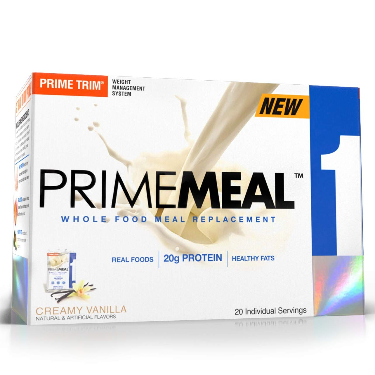 Complete Nutrition Prime Meal, Creamy Vanilla, Meal Replacement, Whey Protein Powder, Weight Management, 20 Individual Packets