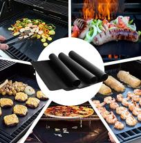 Grill Mat, BBQ Accessories, Non Stick, Reusable & Dishwasher Safe & Nonstick Accessories, FAMELEY BBQ Grilling Mats for Gas, Charcoal, Electric Grill (13×16 inch), Set of 3