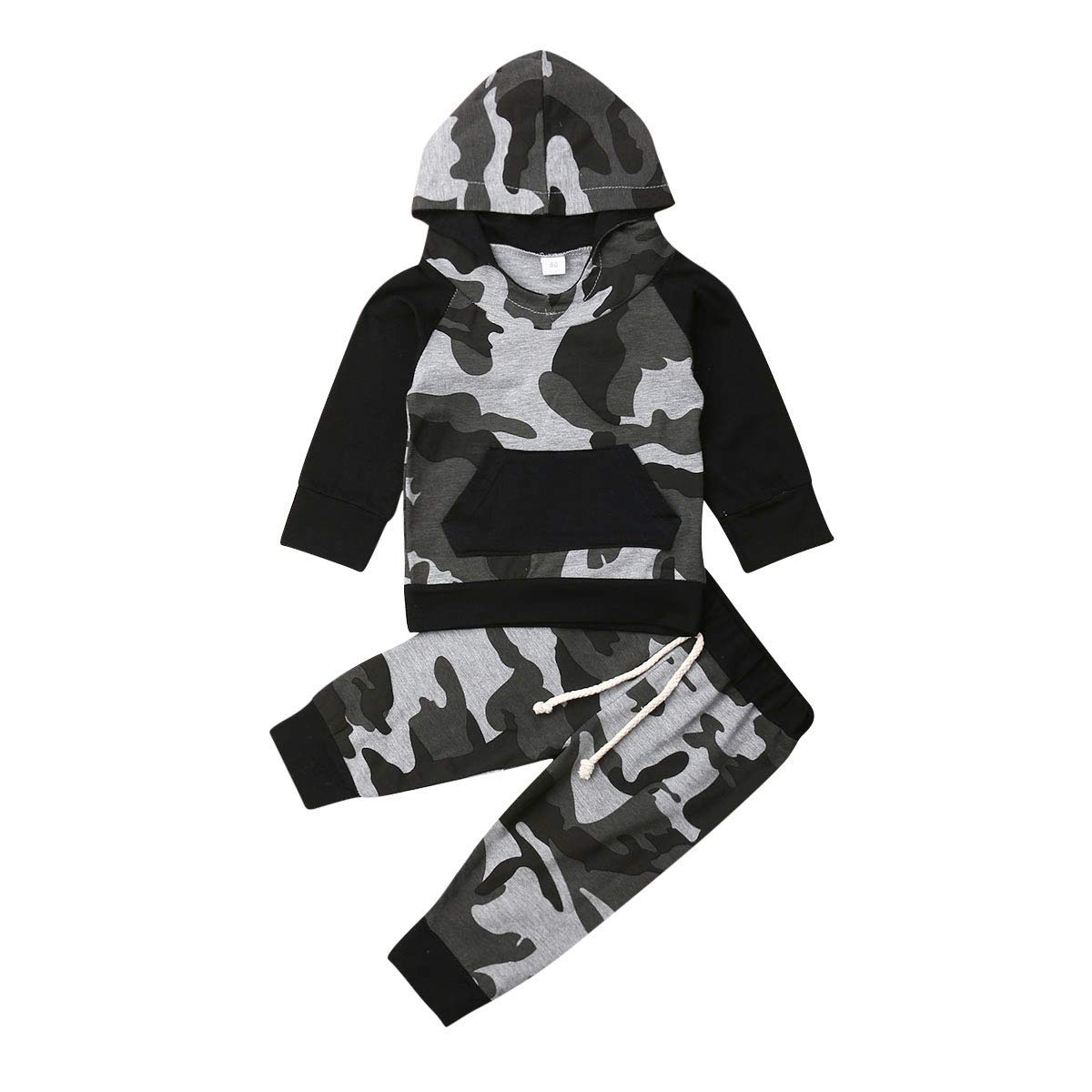 oklady Baby Boy Clothes Letter Print Hoodies Long Camouflage Pants 2PCS Outfits Set