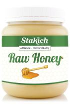 Stakich RAW Honey 60-LB, Pure, Unprocessed, Unheated, Kosher