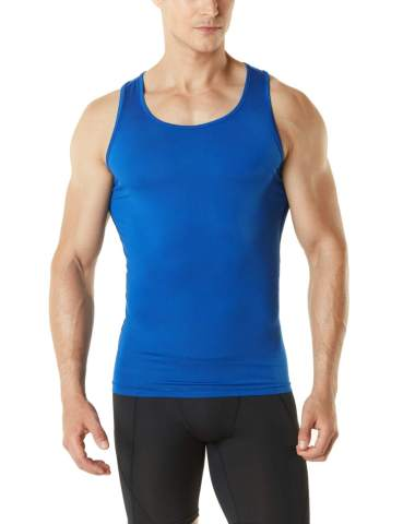 TSLA 1 or 3 Pack Mens Athletic Compression Sleeveless Tank Top Cool Dry Sports Running Basketball Workout Base Layer