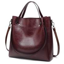 Hobo Bags for women Shoulder Bags Soft Lady Tote Handbags Fashion Purses Classic Designer Work Bags Bucket Woman Satchel (A Wine)