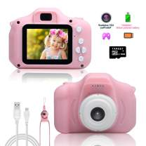 Beinhome Kids Camera Children Digital Video Cameras Toy Gifts for 3-10 Year Old Boys Girls, DIY Camcorder 1080P IPS 2 Inch Kid Action Camera with 16GB SD Card