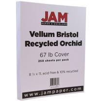 JAM PAPER Vellum Bristol 67lb Cardstock - 8.5 x 11 Coverstock - Orchid Light Purple - 250 Sheets/Ream