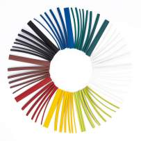 Heat Shrink Tubing Tube Kit - 2:1 Heat Shrink Ratio Flame Retardant Kit Insulation Seal Against Moisture Corrosion and Air Leakage for Wire Shrink Wrap Electrical Cable(9 Colors/6 Size/162 PCS)