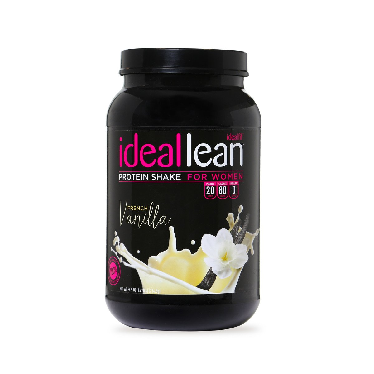 IdealLean - Nutritional Protein Powder for Women   20g Whey Protein Isolate   Supports Weight Loss   Healthy Low Carb Shakes with Folic Acid & Vitamin D   30 Servings (French Vanilla)