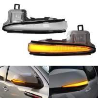 SUPAREE LED Side Mirror Turn Signal Lights, Sequential Dynamic Indicator Strip for 2016-2020 Toyota Tacoma, 2019-2021 RAV4 XA50,2020 Highlander XU70, Alphard Velltire Lexus LM-Clear Lens