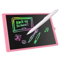 FOVIUPET LCD Writing Tablet 10/16/21 Inches Colorful Screen Drawing Pad, Doodle and Scribbler Boards for Kids, Electronic Educational Learning Toys for 3-15 Year Old Girls (Pink, 21 Inch)