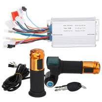 Alomejor 36V/48V 350W Brushless Controller Motor with Digital Display Lock Throttle Handle Kit for Electric Scooter Bike Tricycles