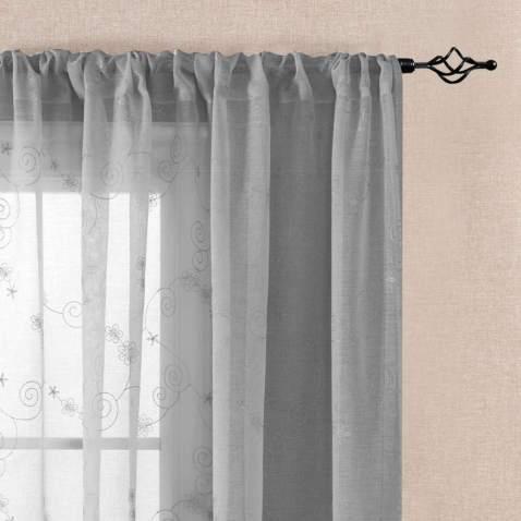 Vangao Grey Sheer Curtains Fl, Sheer Curtains For Living Room