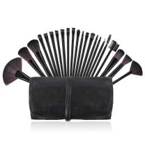 Makeup Brushes, Premium Makeup Brushes Set Black 22 Piece Complete Cosmetic Brush Collection for Foundation Blending Power Blush Eyeshadow