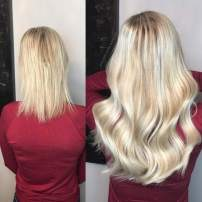 Hetto Human Hair Toupee #27 Blonde and #60 Blonde Hair Piece Clips for Women Brazilian Natural Hair 18Inch Silk Top Real Hair Topper Size 9.5x10cm