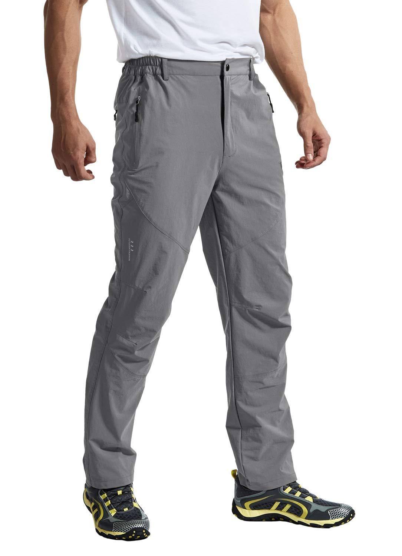 Rdruko Men's Outdoor Waterproof Stretch Hiking Climbing Mountain Travel Cargo Work Pants with Pockets