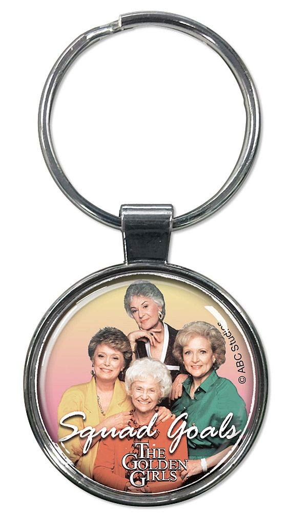 "Ata-Boy Golden Girls 1.5"" Fob Keychain for Keys, Backpack Pulls and More"