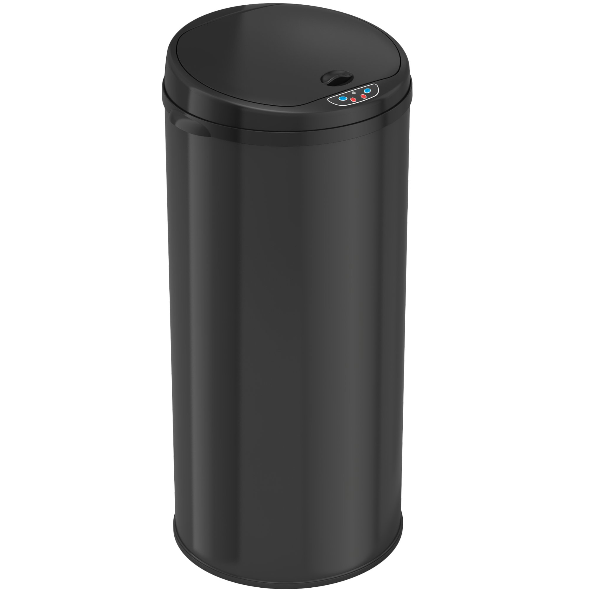 iTouchless 13 Gallon Automatic Trash Can with Odor Control System – Black Round Kitchen Sensor Garbage Bin for Kitchen or Office