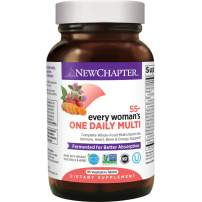 New Chapter Multivitamin for Women 50 plus - Every Woman's One Daily 55+ with Fermented Probiotics + Whole Foods + Astaxanthin + Organic Non-GMO Ingredients - 96 ct