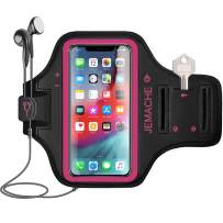 iPhone 11 Pro Max, Xs Max Armband, JEMACHE Water Resistant Gym Running Workouts Arm Band Case for iPhone 11 Pro Max, Xs Max (Rose)