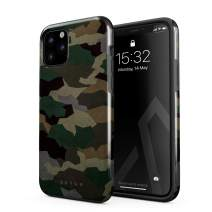 BURGA Phone Case Compatible with iPhone 11 PRO - Tropical Military Army Green Camo Camouflage Cute Case for Girls Heavy Duty Shockproof Dual Layer Hard Shell + Silicone Protective Cover