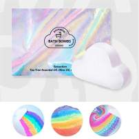 Rainbow Bath Bombs Gift Box Wrapped - Handmade Fizzies for Women. Rainbow Cloud SPA Bath Bombs (1pc-Rainbow)