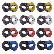 Masquerade Venetian Party Mask - 12pcs Pack Mardi Gras Mascarade Couple Eye Masks Mix Color