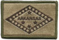 Arkansas Tactical Flag Patch