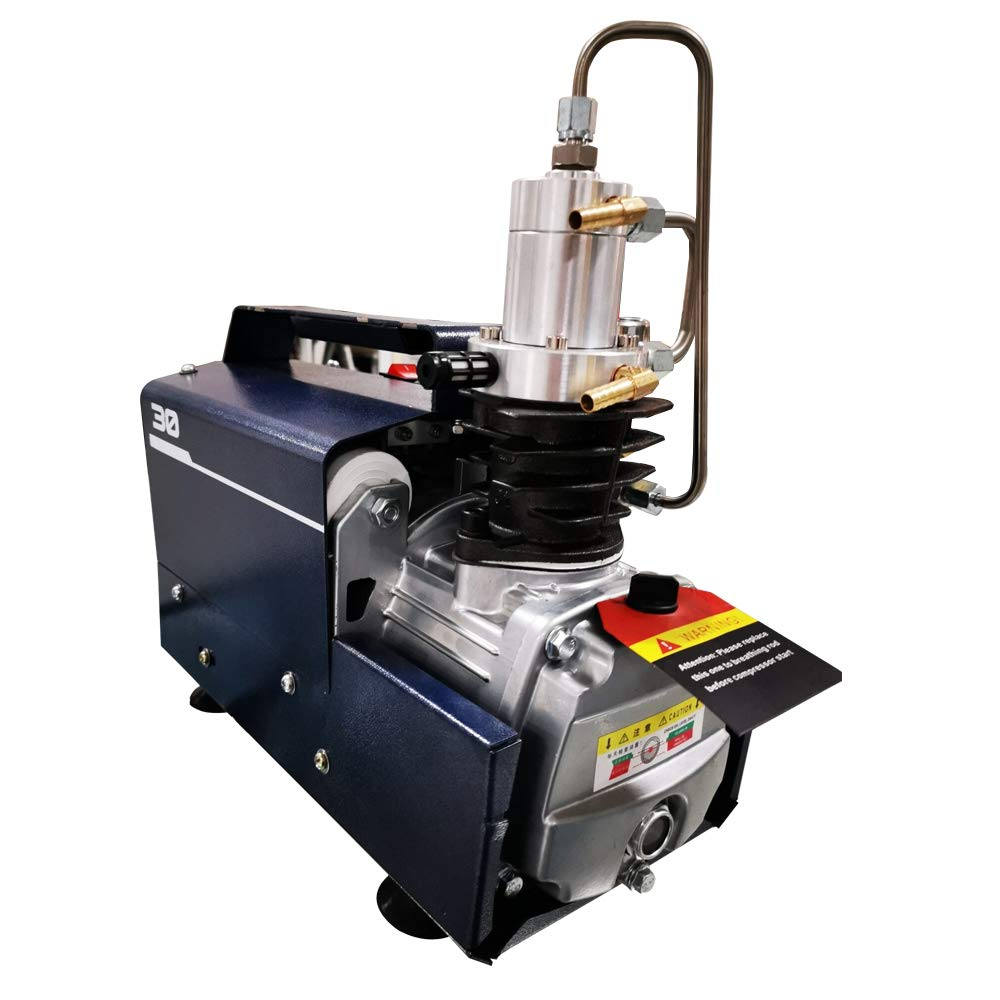 HPDAVV Protable Air Compressor 4500Psi - 1.5KW - 110V/60Hz - Auto Stop Variable Pressure for Paintball Tank Filling Pump