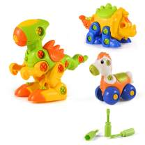 Dinosaur Toys, STEM Learning Toys, Construction Engineering Building Play Set for Boys Girls Toddlers, Best Kids Toy Gift for Ages 3yr – 6yr, 3 Years and up (Colorful)