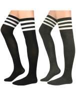 Century Star Womens Thigh High Socks Cotton Tube Thigh High Stockings Super Cute Knee High Stockings Long Leg Warmers