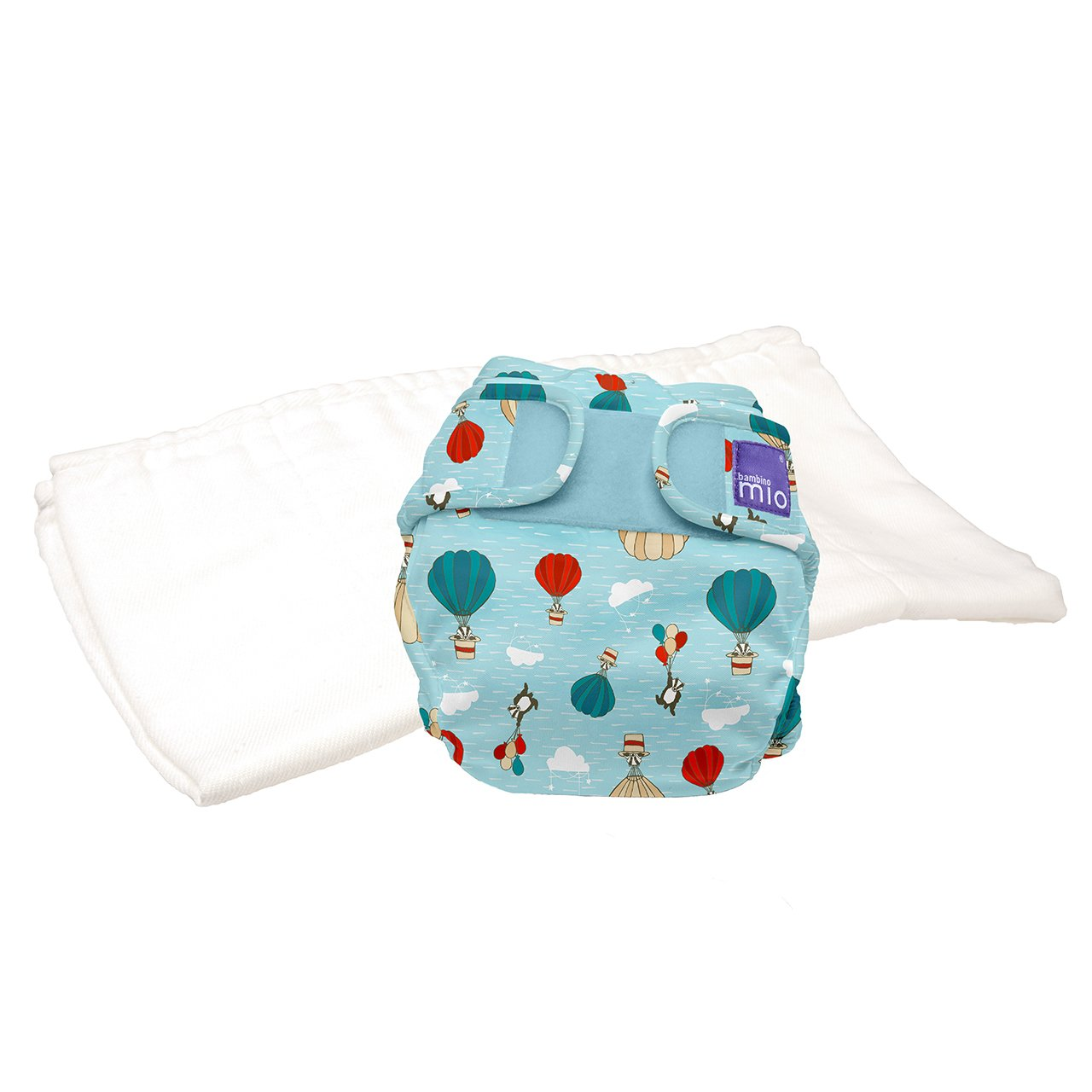 Bambino Mio, Miosoft Cloth Diaper Trial Pack, Sky Ride, Size 1 (<21lbs)