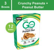 Kashi Go Protein Bars - Crunchy Peanut Butter | Vegan | Non-Gmo, 21 Oz (Pack Of 3 – 4ct Boxes), 12 Bars