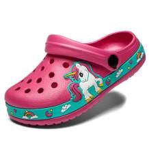 Meidiastra Kids Boys Girls Cartoon Clogs Slippers Toddler Slip On Lightweight Beach Pool Sandals