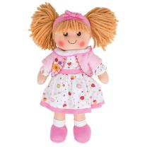 Bigjigs Toys 13 Inch Kelly Doll - Soft Body Plush Toy Doll with Hair and Outfit