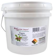 Shea Butter - Grade A - Organic - Unrefined - 25 lbs in a 3.25 Gallon Pail - HDPE microwavable container with resealable lid and removable handle