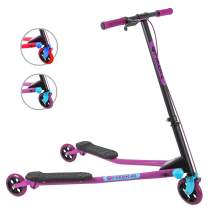 Yvolution Y Fliker Air A3 Kids Drifting Scooter | Swing Scooter for Boys and Girls Age 7+ Years