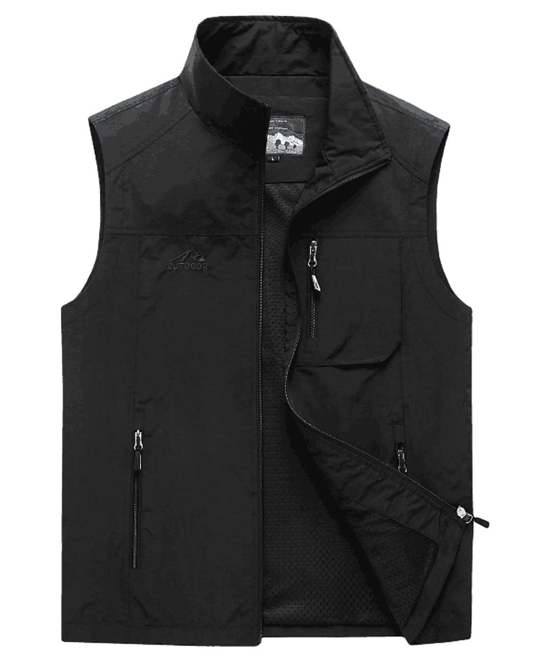 Hixiaohe Men's Casual Lightweight Outdoor Vest Work Fish Photo Travel Vest