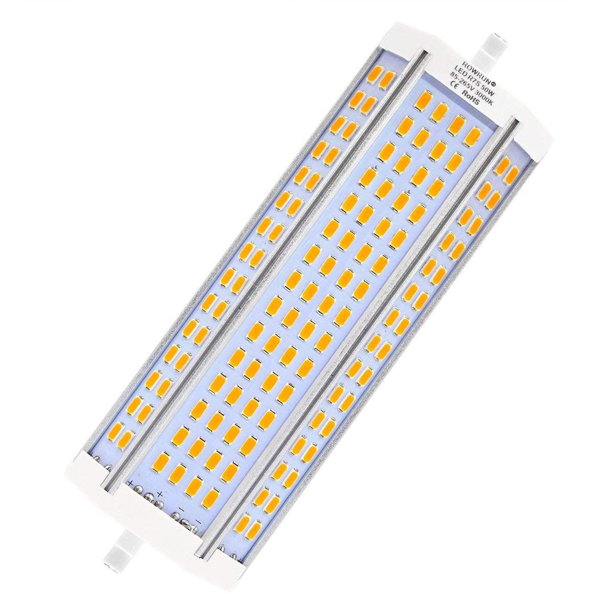 R7S LED 189mm 50W Non Dimmable Warm White 3000K Type J Light Bulb J189 500W Double Ended Halogen Bulb Replacement 4700LM AC85-265V by Rowrun