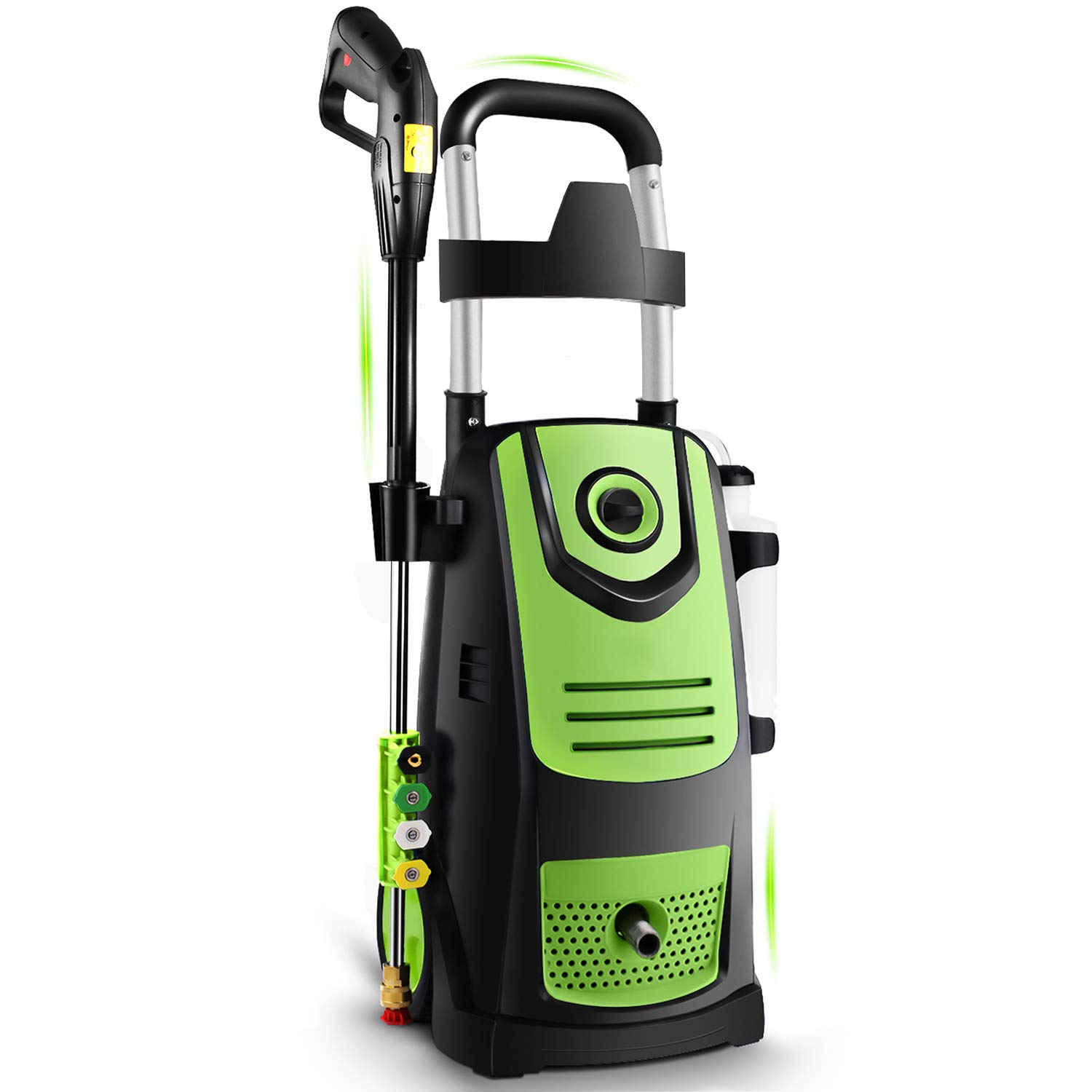 Suyncll 3800 PSI 2.8GPM Electric Pressure Washer Electric Power Washer with Soap Bottle (Green)