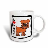 3dRose I Love My Brussels Griffon Brown Magic Transforming Mug, 11-Ounce