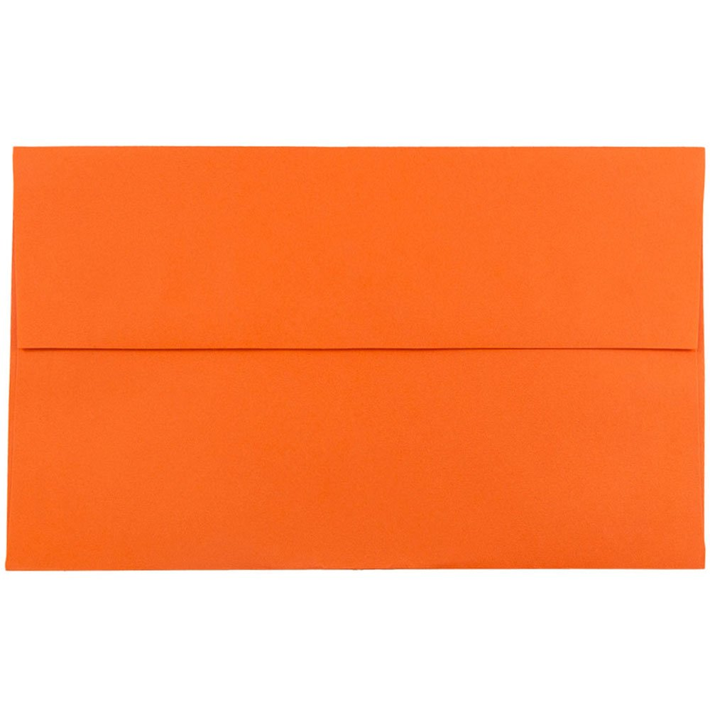 JAM PAPER A10 Colored Invitation Envelopes - 6 x 9 1/2 - Orange Recycled - 50/Pack