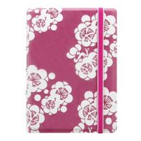 FILOFAX Refillable Impressions Notebook, Pocket, Pink and White - 112 Cream moveable pages - Index, pocket and page marker (B115044U)