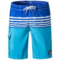 Evobak Mens Swim Trunks Quick Dry Beach Board Shorts Mesh Lining