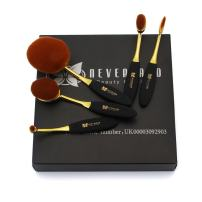 3-5 Days Delivery Neverland Beauty 5Pcs Beauty Toothbrush Shape Makeup Cream Foundation Powder Lip Eyeshadow Brushes Set Rose Gold & Black
